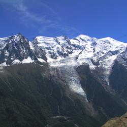 Mont Blanc en Aguille du Midi