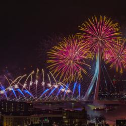 Het nationale vuurwerk in Rotterdam