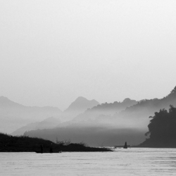 The Mekong black and white