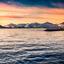 sunset Tromso havn