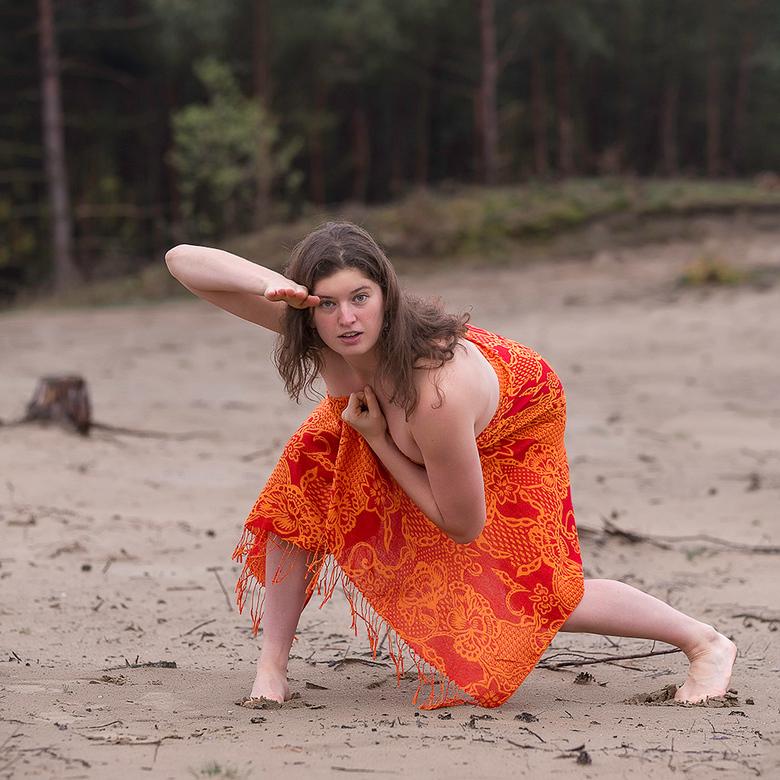 dancer in the woods - danseres in het bos