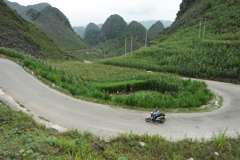 Alle vrijheid op de brommer in noord Vietnam