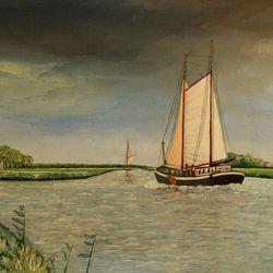 Noord Hollands kanaal te Zijpersluis  NH
