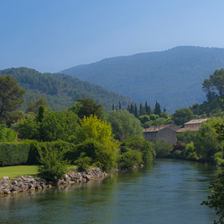 Schilderachtig landschap in Frankrijk