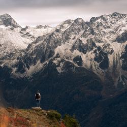 Franse Alpen Selfie