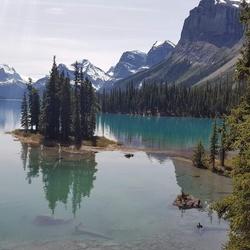 Malinge Lake Jasper National Park Canada