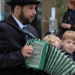 straat accordeonist