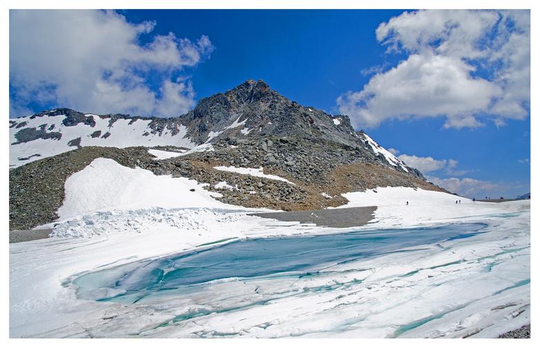 IJsmeer - Een IJsmeer bij de Molltaler Gletscher in Karinthie, Oostenrijk.