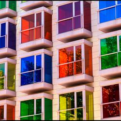 kleurige vensters