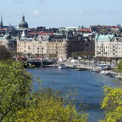 Uitzicht op Stockholm