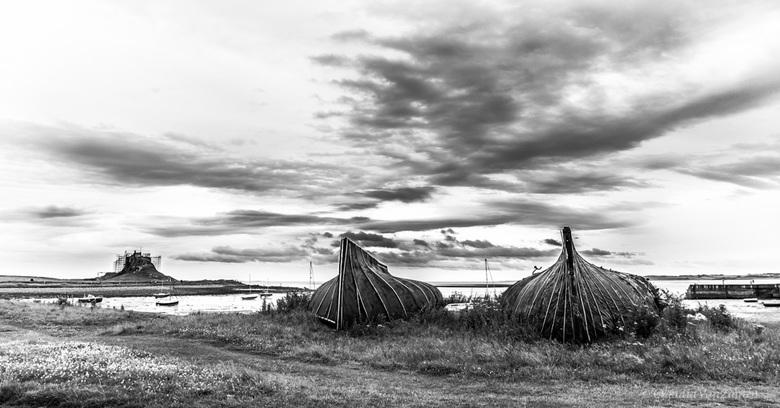 "Boathouses - Even iets totaal anders: ""Boathouses"" op Holy Island in Northumberland, UK."