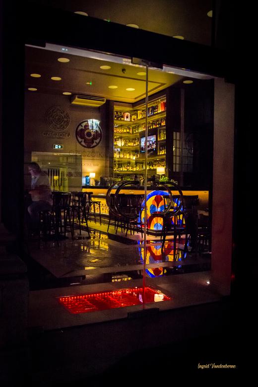 cafeetje in Krakau in  kleur