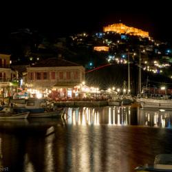 Molyvos - by night - op het eiland Lesbos