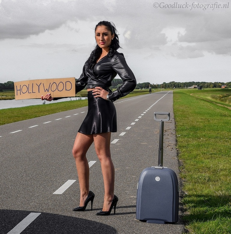 On my way to............... - Uit het archief van model Sabrina
