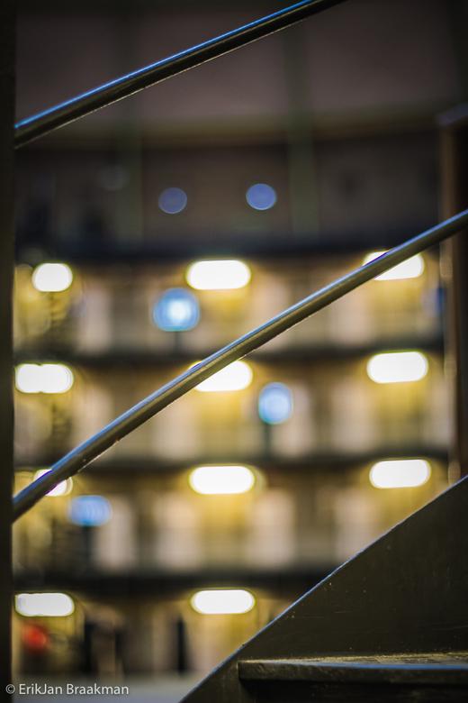 Kunstlicht - Voormalige koepelgevangenis in Haarlem tijdens een open dag voor fotografen.