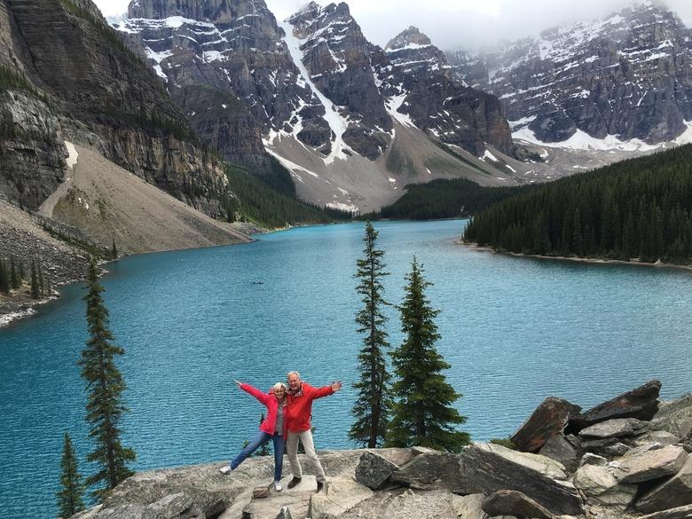 Leve de Rockies! - Na wat klauterwerk van de fotograaf boven Moraine Lake in Canada...