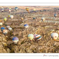 Ballonnen boven Cappadocië
