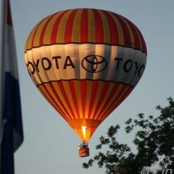 Een Luchtballon die gisteren langs kwam