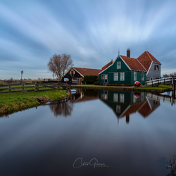 A cloudy morning at the Zaanse Schans
