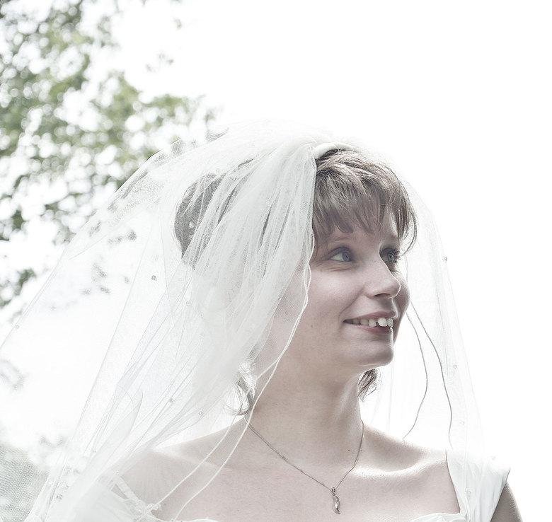 Natasja - Bruidje Natasja in High Key.