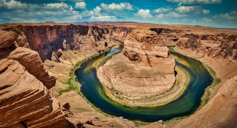The Horseshoe - Horseshoe bend vastgelegd onderweg naar Scottsdale, vanuit Zion National Park. <br /> <br /> Tips/feedback voor verbetering wordt ui