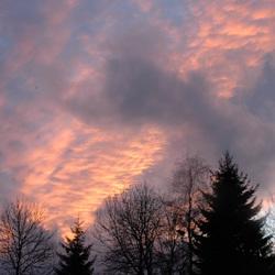 Vurige wolken