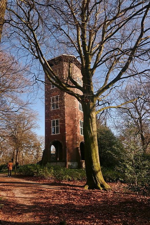 Uikijktoren de Koepel - Tijdens de aanleg van het Luntersche Buurtbosch bouwde notaris Van den Ham op de Galgenberg eerst een theehuisje, met uitzicht