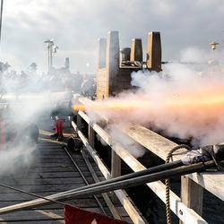 Kanonschieten op piratendag Batavia 2018