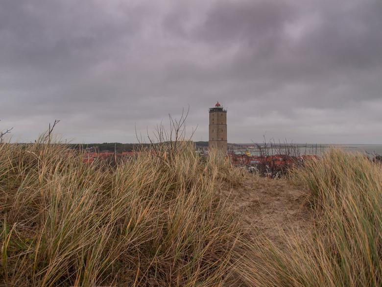 Brandaris - Vuurtoren Brandaris gezien vanaf het Seinpaalduin, Terschelling