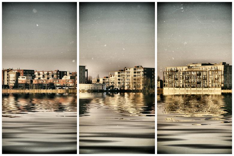 De verdeelde overkant - Zoetermeer (noordhove) bewerkt met Nik Colour FX.