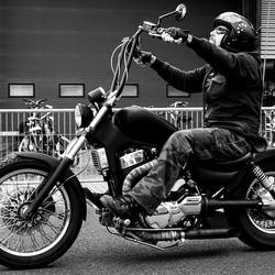 Proud biker