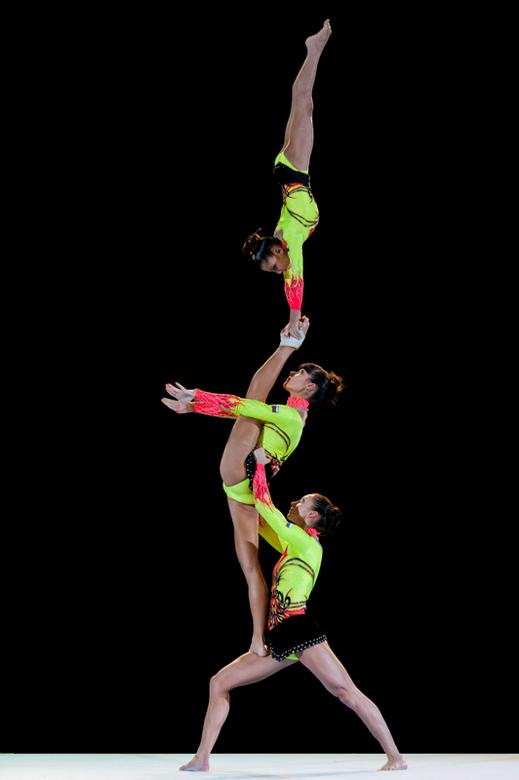 This is gymnastics. - Foto genomen tijdens hun oefening op het gymgala.