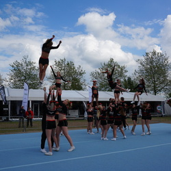 Cheerleaders in actie