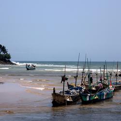 Vissersbootjes Ghana