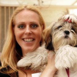 WSN ambassadrice met haar hondje.