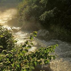 wild water in tegenlicht