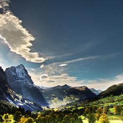 lichtspel boven de Eiger