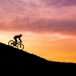 sunset mountainbike