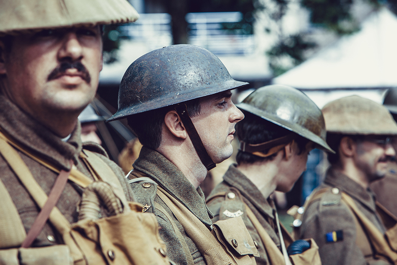 Wereldoorlog 1 - Dit is een Re-enactment meeting, (organisatie) dat jaarlijks terugkeert, ter nagedachtenis van Wereldoorlog 1