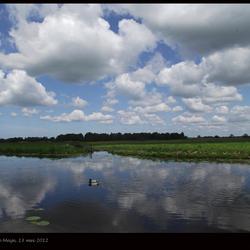Hollandse wolkenlucht aan de Meije