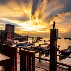 Zonsondergang in Koh Tao