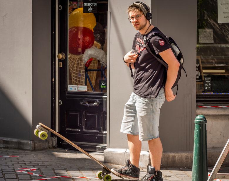 Skateboarder Stefan,,,,, - Foto met toestemming. (niet geposeerd)<br /> <br /> Altijd leuk als je even contact met je onderwerp maakt. <br /> <br /
