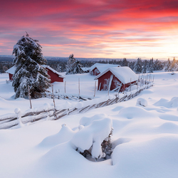 Sunset in Lillehammer