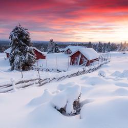 Sunset in Lillehammer