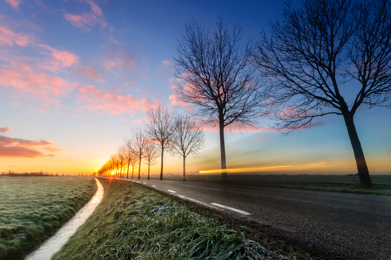 A Touch of Frost - A Touch of Frost - www.martijnvandernat.nl <br /> Taken at Zoeterwoude, The Netherlands. <br /> ISO200, 10 mm, 0,5 sec f22 tripod