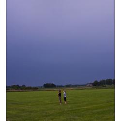 Wachten op het onweer....
