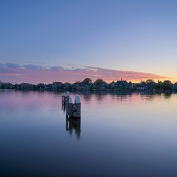 Purple sunset at Zaanse Schans