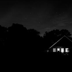 Boerderij bij nacht