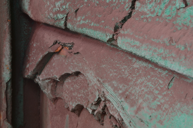 Deur van roest - Detail van een deur.