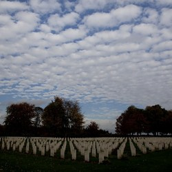 Canadese begraafplaats met mooie lucht